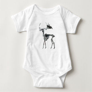 Irish Elk Skeleton Baby Bodysuit