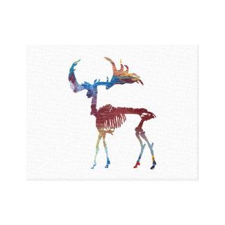 Irish Elk Skeleton Canvas Print