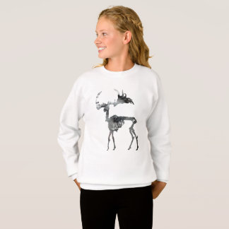 Irish Elk Skeleton Sweatshirt