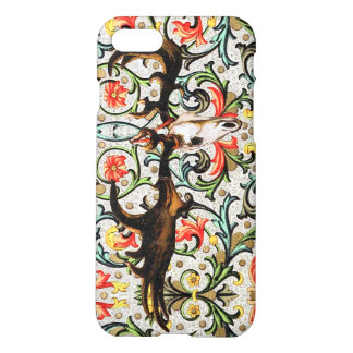 Irish Elk Skull with Floral and Vine Pattern iPhone 7 Case
