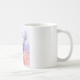 Irish elk watercolour basic white mug
