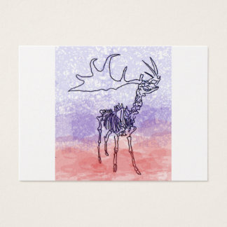 Irish elk watercolour business card