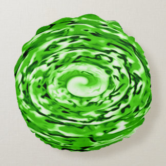 Irish Emerald Isles Rose Airbrush Art Round Pillow