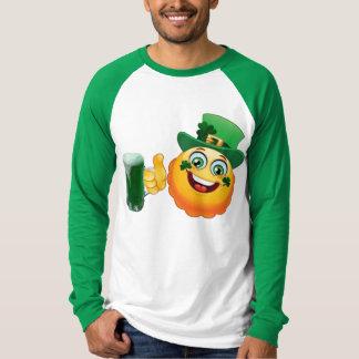 irish emoji lucky green beer st patricks day funny T-Shirt