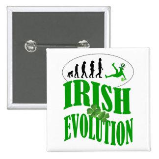Irish evolution 15 cm square badge