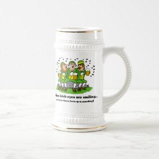 Irish eyes are smiling mug