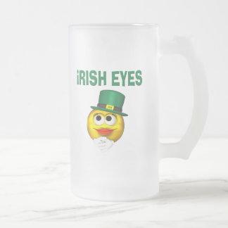 IRISH EYES FROSTED GLASS MUG