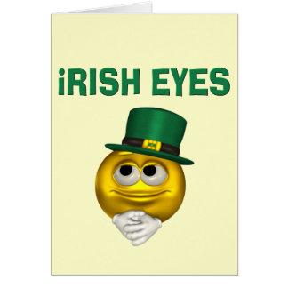 IRISH EYES GREETING CARD