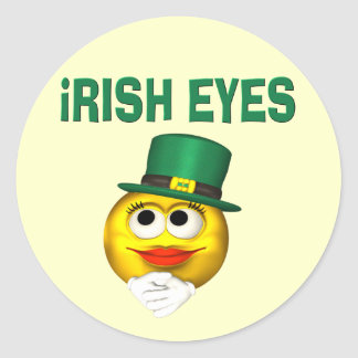 IRISH EYES ROUND STICKER
