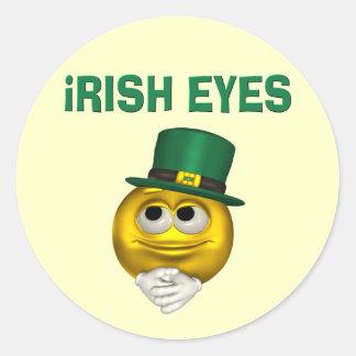 IRISH EYES ROUND STICKER