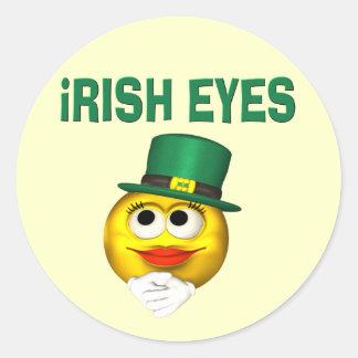 IRISH EYES ROUND STICKERS