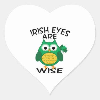 Irish Eyes Heart Sticker