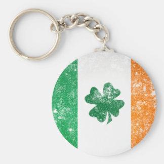 Irish Flag Basic Round Button Key Ring