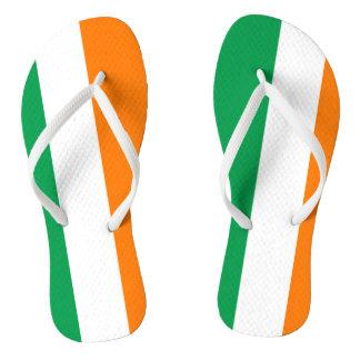 Irish flag beach flip flops for men and women