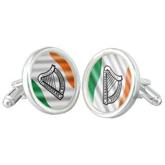 Irish flag cufflinks