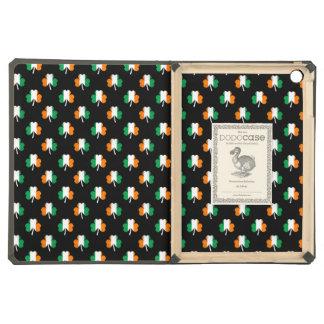 Irish Flag-Green/White/Orange-Colored Shamrocks iPad Air Cases