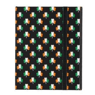 Irish Flag-Green/White/Orange-Colored Shamrocks iPad Case