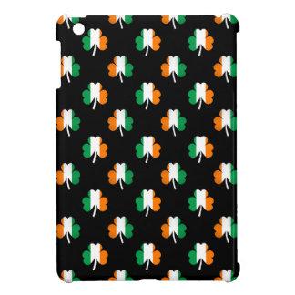 Irish Flag-Green/White/Orange-Colored Shamrocks iPad Mini Cases