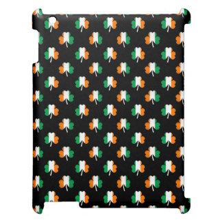 Irish Flag-Green/White/Orange-Colored Shamrocks Case For The iPad