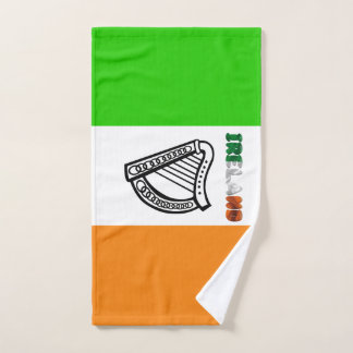 Irish flag hand towel