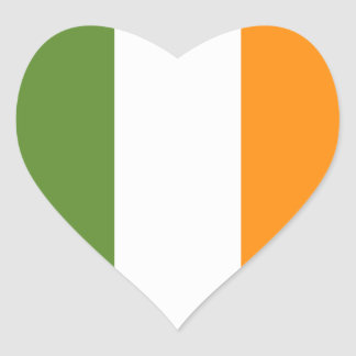 Irish flag heart St. Patrick's Day sticker
