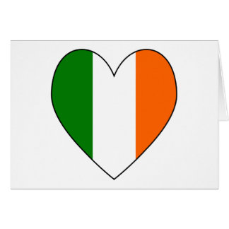 Irish Flag Heart Valentine Card