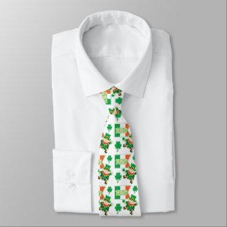 Irish Flag Leprechaun Pattern Tie