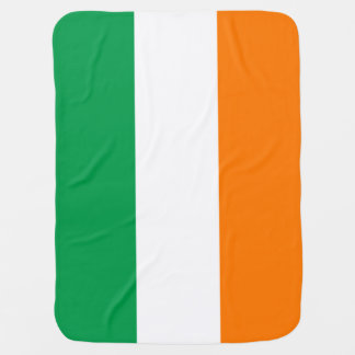 Irish flag of Ireland custom baby blanket