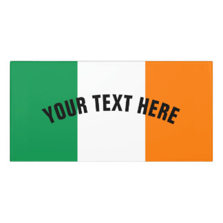 Irish flag of Ireland custom Door Sign