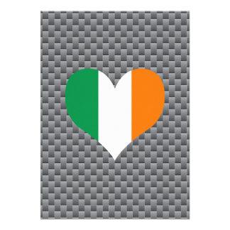 "Irish Flag on a cloudy background 5"" X 7"" Invitation Card"