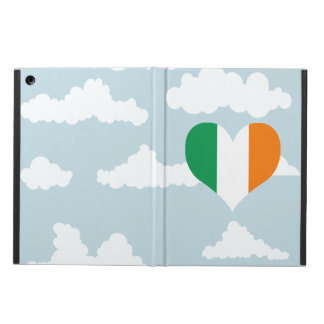 Irish Flag on a cloudy background iPad Air Cases
