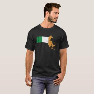 Irish Flag over Massachusetts T-Shirt