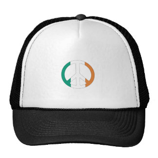 Irish Flag Peace Symbol Cap