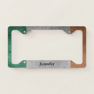 Irish Flag Personalize Licence Plate Frame