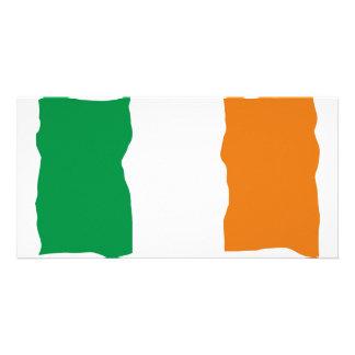Irish Flag Photo Greeting Card