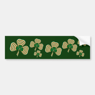 Irish flag shamrock bumper sticker