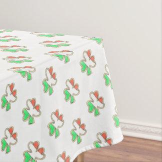 Irish Flag Shamrock Clover Cookie St Patrick's Day Tablecloth