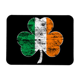 Irish Flag Shamrock (Distressed) Flexi Magnet