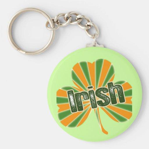 Irish Flag Shamrock Keychains