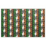 Irish Flag Shamrock Pattern Fabric