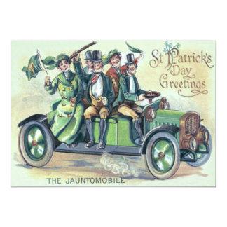Irish Flag Shillelagh Green Car Shamrock 13 Cm X 18 Cm Invitation Card