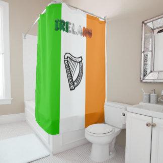 Irish flag shower curtain