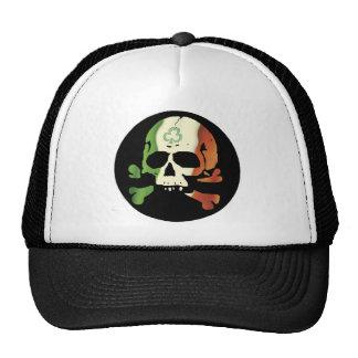 Irish flag skull cap