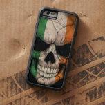 Irish Flag Skull on Black