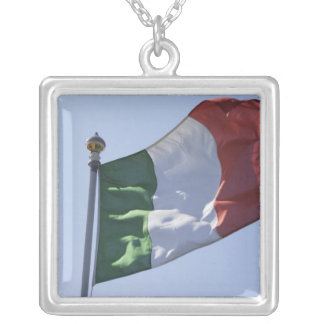 Irish Flag Square Pendant Necklace