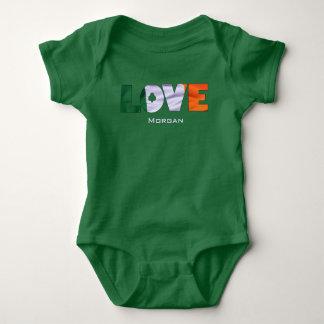 Irish Flag St. Patricks Day Baby Bodysuit
