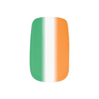 Irish Flag St. Patrick's Day Minx Nail Art