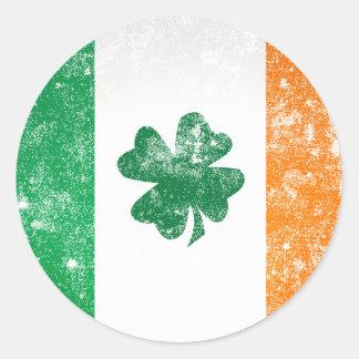 Irish Flag Round Stickers