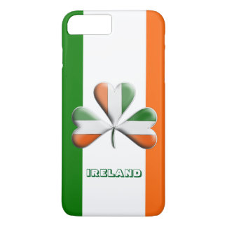 Irish Flag Tri Colors Themed Shamrock iPhone 8 Plus/7 Plus Case