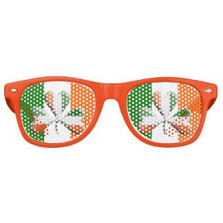Irish Flag Tri Colours Themed Shamrock